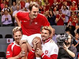 Davis Cup voor Zwitserland federer