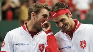 Federer met twee gezichten Davis Cup Federer en wawrinka