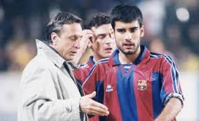 Cruijf als coach van Guardiola