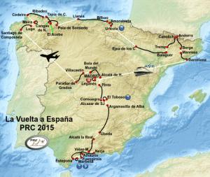 Kaart Vuelta 2015