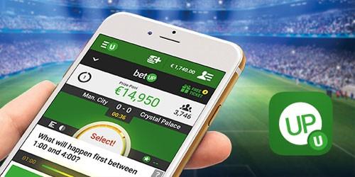 Screenshot van de app van Unibet