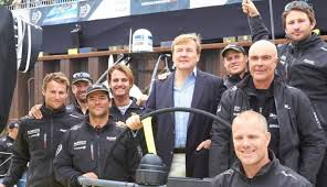 Volvo Ocean in Scheveningen koning op bezoek