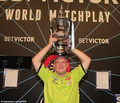 Darts World Matchplay 2015 02 van Gerwen win plaatje