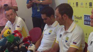 Tour 2015 06 Missie Contador niet geslaagd persconferentie