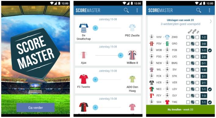 ScoreMaster voetbal app