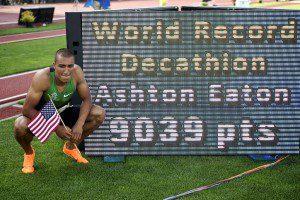 WK Atletiek 2015 05 Ashton Eaton wereldrecord