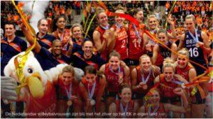 Volleybal OKT vrouwen jan 2016 plaatje zilveren medaille ek