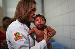 Rio alweer bedreigd? zika plaatje baby