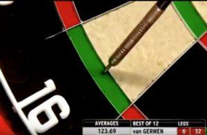 Darts Premier Leaugue 2016 wereldrecordpijl van van Gerwen.04