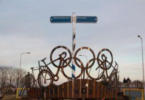 Wielrennen Marianne Vos kunstwerk