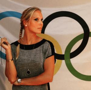 Atletiek Nadine Broersen plaatje bij Olymp ringen