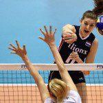 Volleybalsters plaatsen zich voor de Olympische Spelen.