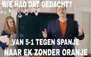Voetbal Oranje 2016 oefenen geen EK vervolg 01 plaatje reclame