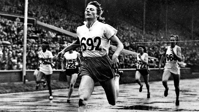 Sport geschiedenis - Fanny Blankers -Koen op de Olympische spelen